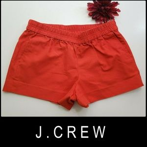J.Crew Woman Elastic Waistband Chino Shorts Size 8